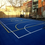 Painting Multi Sport Surfaces in Ablington 6