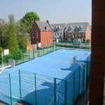 Painting Multi Sport Surfaces in Blacon 12
