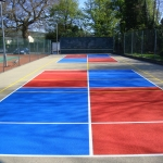 Painting Multi Sport Surfaces in Aston Fields 2