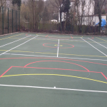 Painting Multi Sport Surfaces in Bidston Hill 11