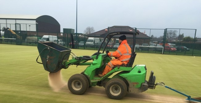 Sand Filled Turf Installation in Upleadon