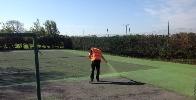 MUGA Court Cleaning