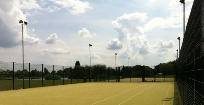 MUGA Court 2G Grass in Aberbeeg